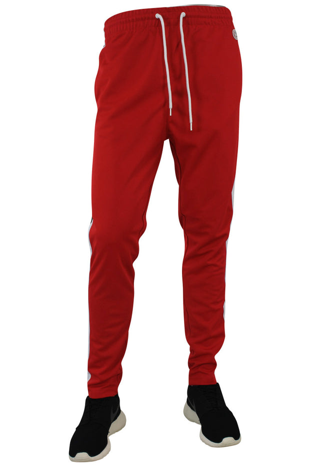Side Stripe Pique Track Pants Red - Black - White (1276)