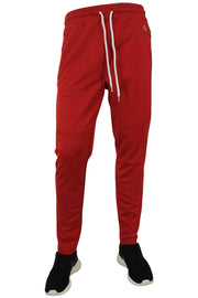 Side Stripe Shimmer Track Pants Red - Gold (1283)