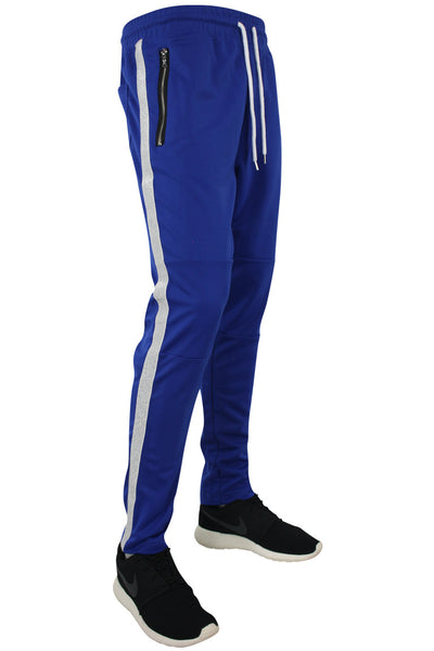 Side Stripe Shimmer Track Pants Royal Blue - Silver (1283)