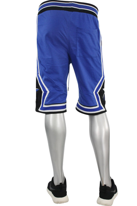 Star Stripe Tech Fleece Shorts Royal - Black (BKS806)