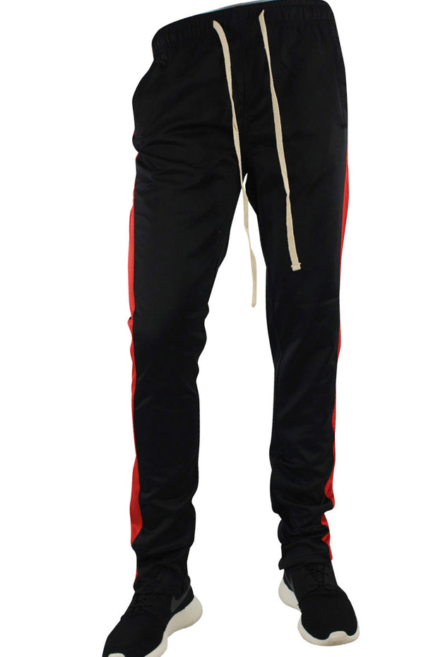 Stripe Track Pants Black - Red (FP800)