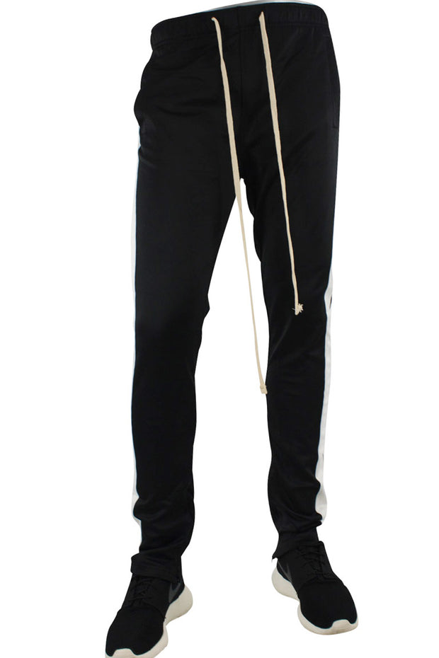 Stripe Track Pants Black - White (FP800)