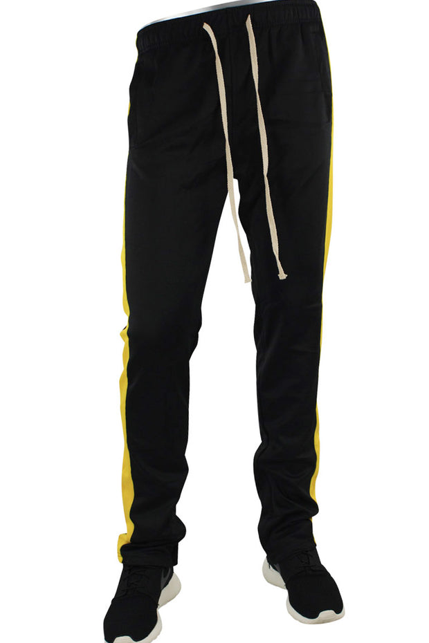 Stripe Track Pants Black - Yellow (FP800)