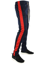 Stripe Track Pants Navy - Red (FP800)