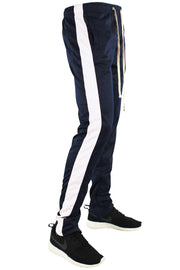 Stripe Track Pants Navy - White (FP800)