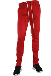 Stripe Track Pants Red - White (FP800)