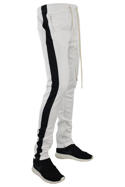Stripe Track Pants White - Black (FP800)