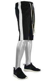 Stripe Track Shorts Black - White (SP800)