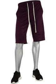 Stripe Track Shorts Burgundy - White (SP800)