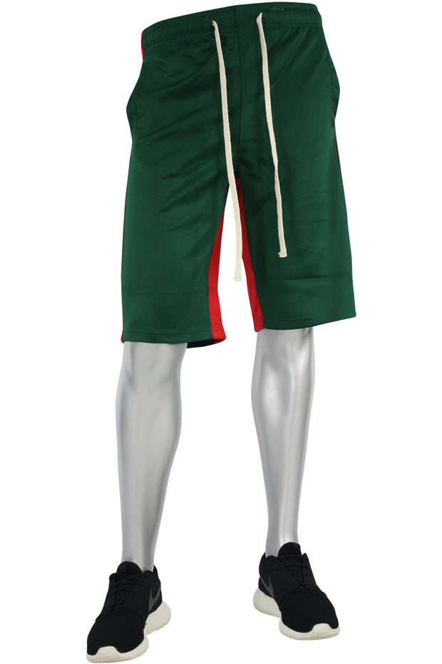 Stripe Track Shorts Green - Red (SP800)