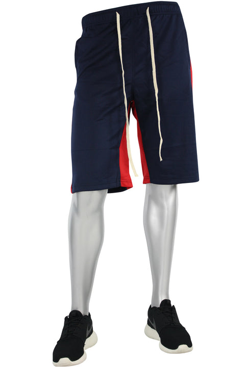 Stripe Track Shorts Navy - Red (SP800)
