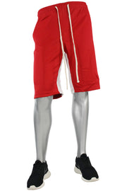 Stripe Track Shorts Red - White (SP800) - Zamage