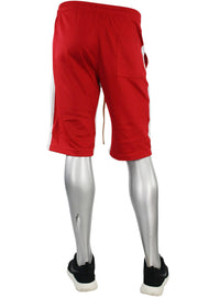 Stripe Track Shorts Red - White (SP800)