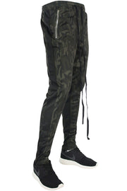 Zip Pocket Dual Stripe Track Pants Camo - Black (M4386PS 22S)