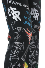 Graffiti Print Liftoff Skinny Fit Denim Black (M4977T)