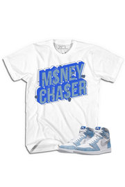 "Air Jordan 1 High OG ""Money Chaser"" Tee Hyper Royal - Zamage"