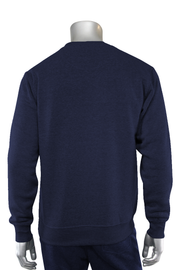 Basic Fleece Crewneck Navy (F890) - Zamage