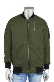 Basic Bomber Jacket Olive (J650A) - Zamage