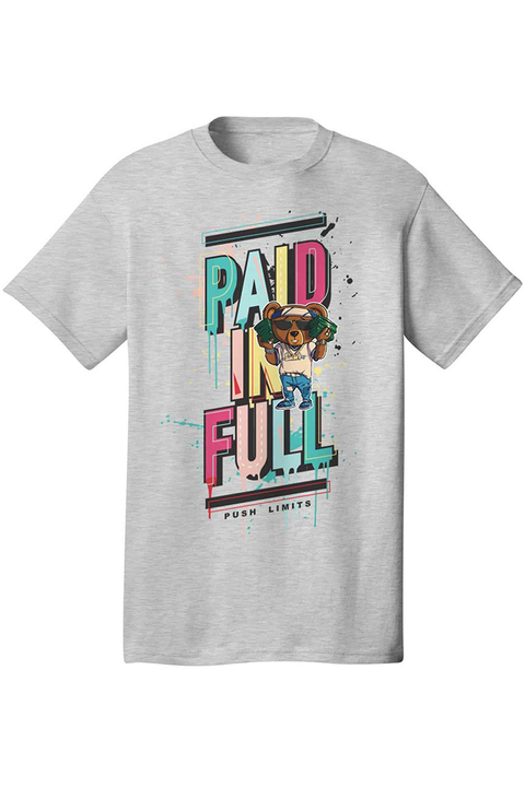 Paid In Full Bear Tee Athletic Grey (DS5026)