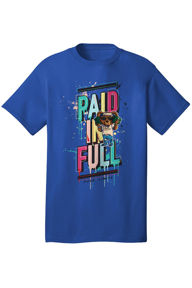 Paid In Full Bear Tee Royal (DS5026) - Zamage