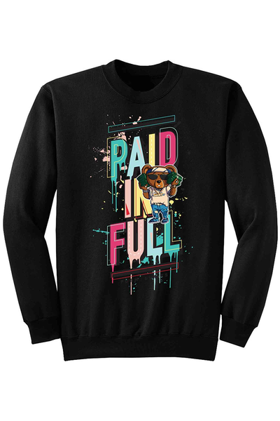 Paid In Full Fleece Crewneck Black (DS6026) - Zamage