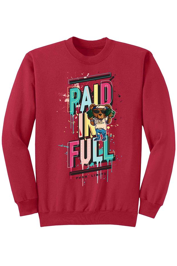 Paid In Full Fleece Crewneck Red (DS6026)