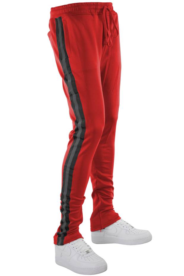 Reflective Tape Track Pants Red (1A2-450) - Zamage