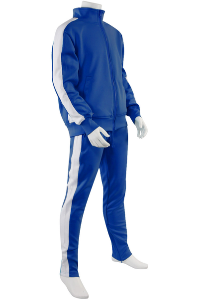 Boys Track Suit Royal - White (800-801) - Zamage