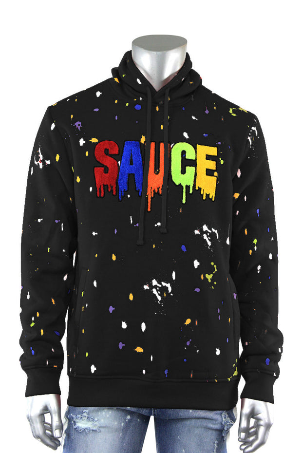 Sauce Chenille Patch Hoodie Black (1A2-316)