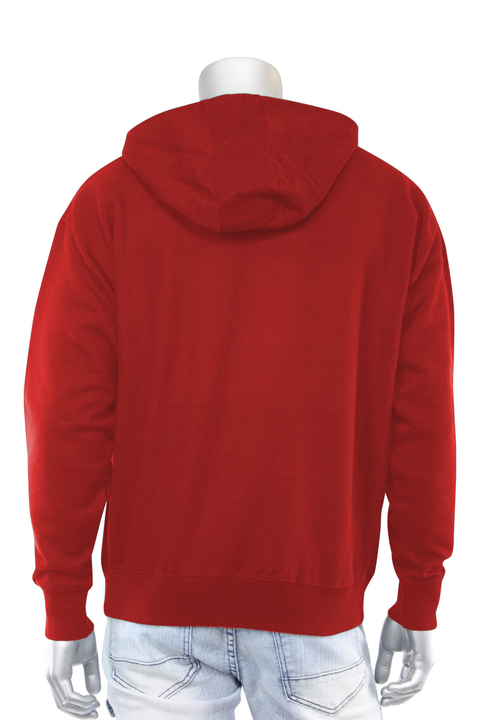 Paid In Full Chenille Hoodie Red (1010HC) - Zamage