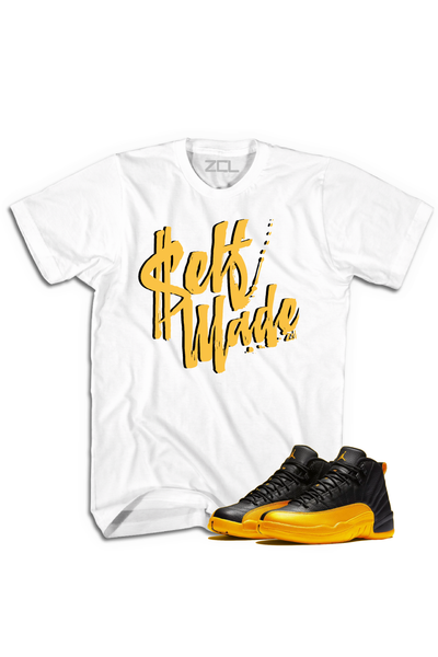 "Air Jordan Retro 12 ""Self Made"" Tee University Gold - Zamage"