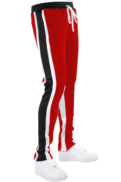 Shane Stripe Track Pants Red (111-405) - Zamage
