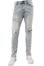 Side Paint Stripe Track Denim Snow - Orange (ZCM4700D)