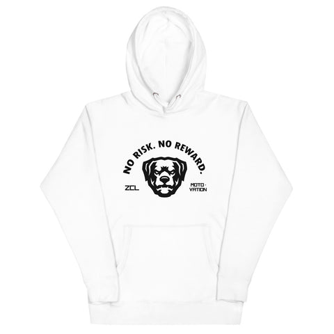ZCL No Risk No Reward Hoodie White