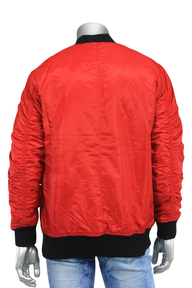 Basic Bomber Jacket Red (J650A) - Zamage