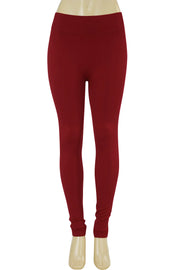 Solid Leggings Burgundy (ZMONEY300)