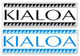 "12"" KIALOA logo sticker - Open Ocean Outrigger & SUP"