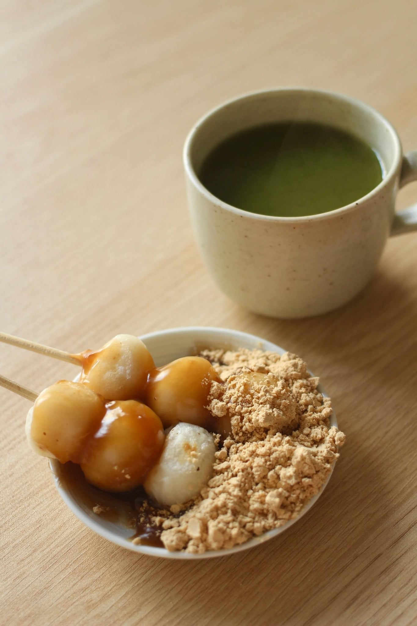 Mitarashi Dango with kinako