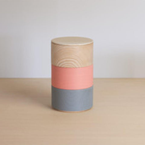 Painted Wood Containers: Tall