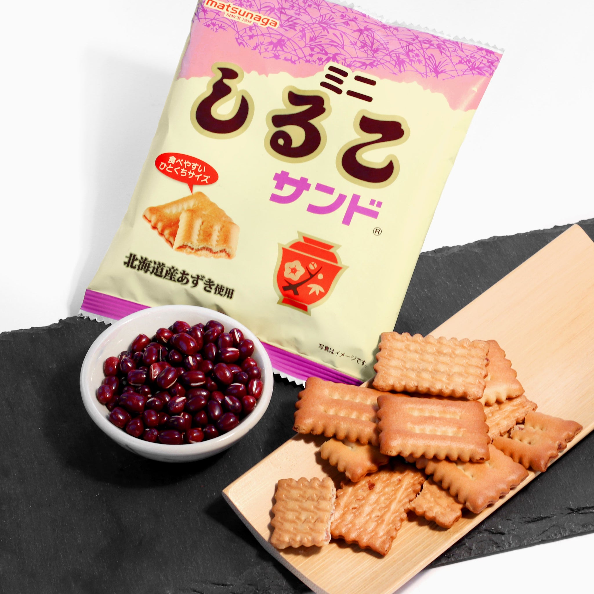 mini red bean crackers