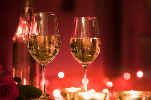 wine valentine's day romantic