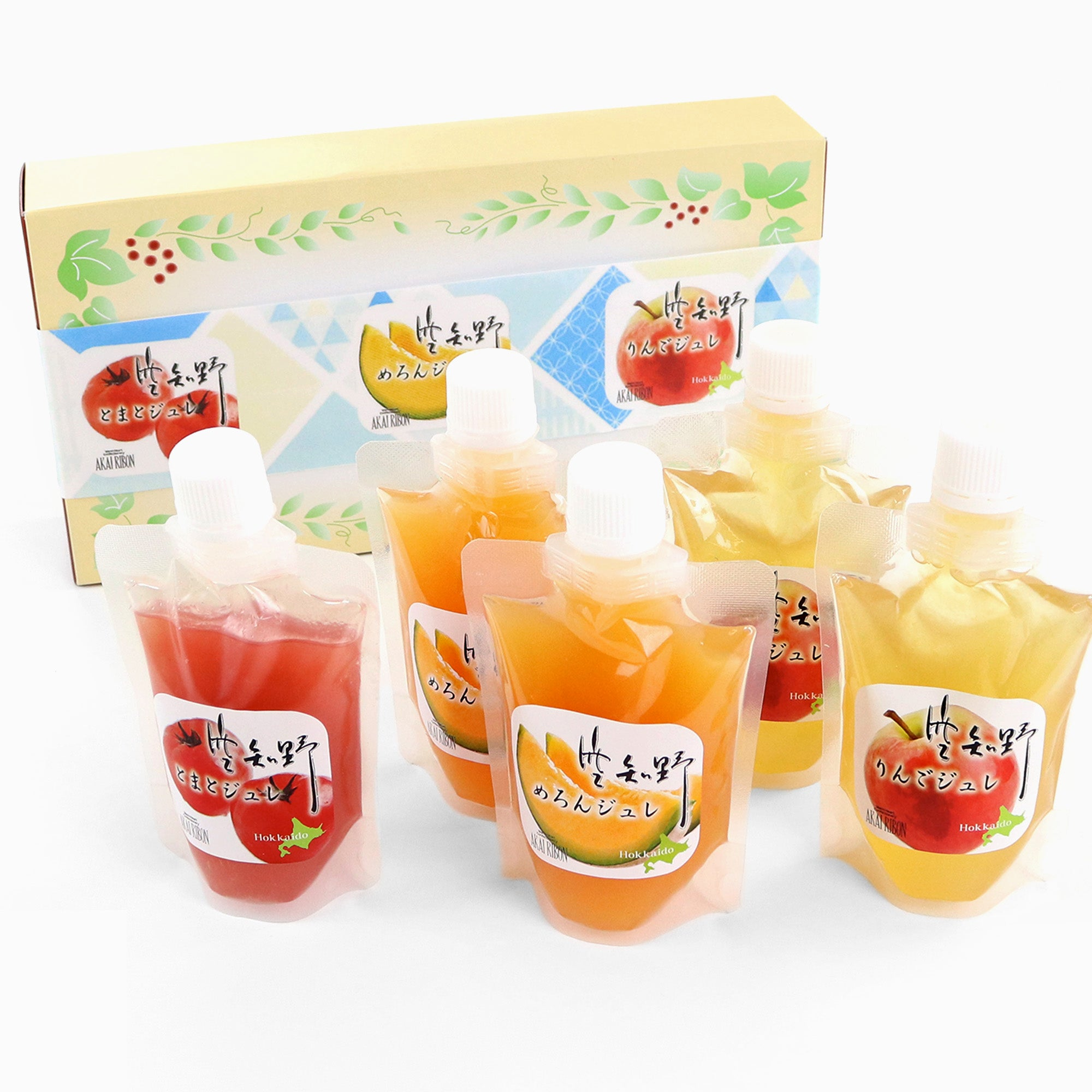 Akai Ribon Gift Box: Fruit Jellies (5 Pouches, 3 Flavors)
