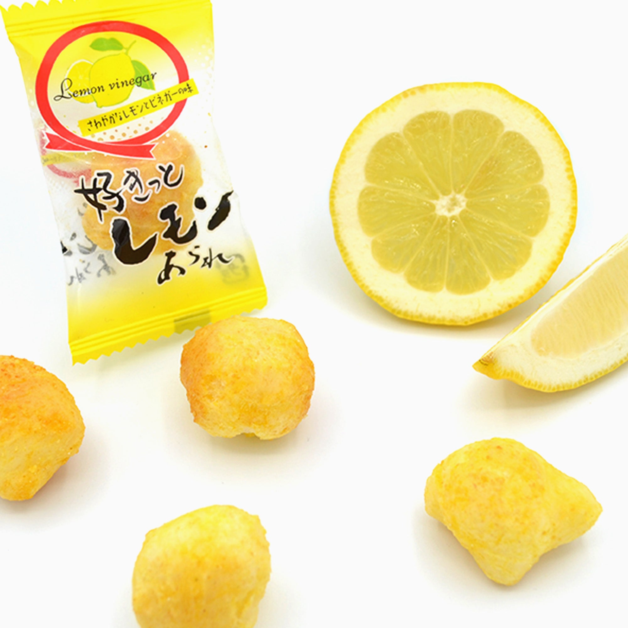 Arare Rice Crackers: Lemon + Vinegar (~20 Pieces)