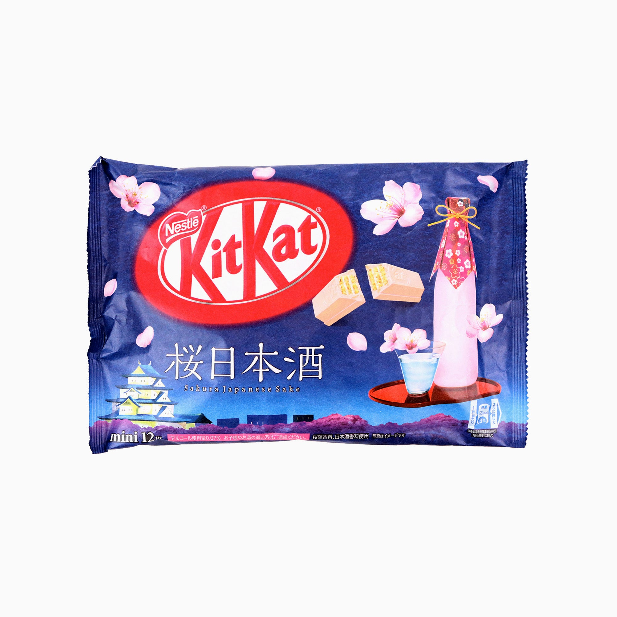 Japanese Kit Kat: Sakura Nihonshu Sake (12 Pieces)
