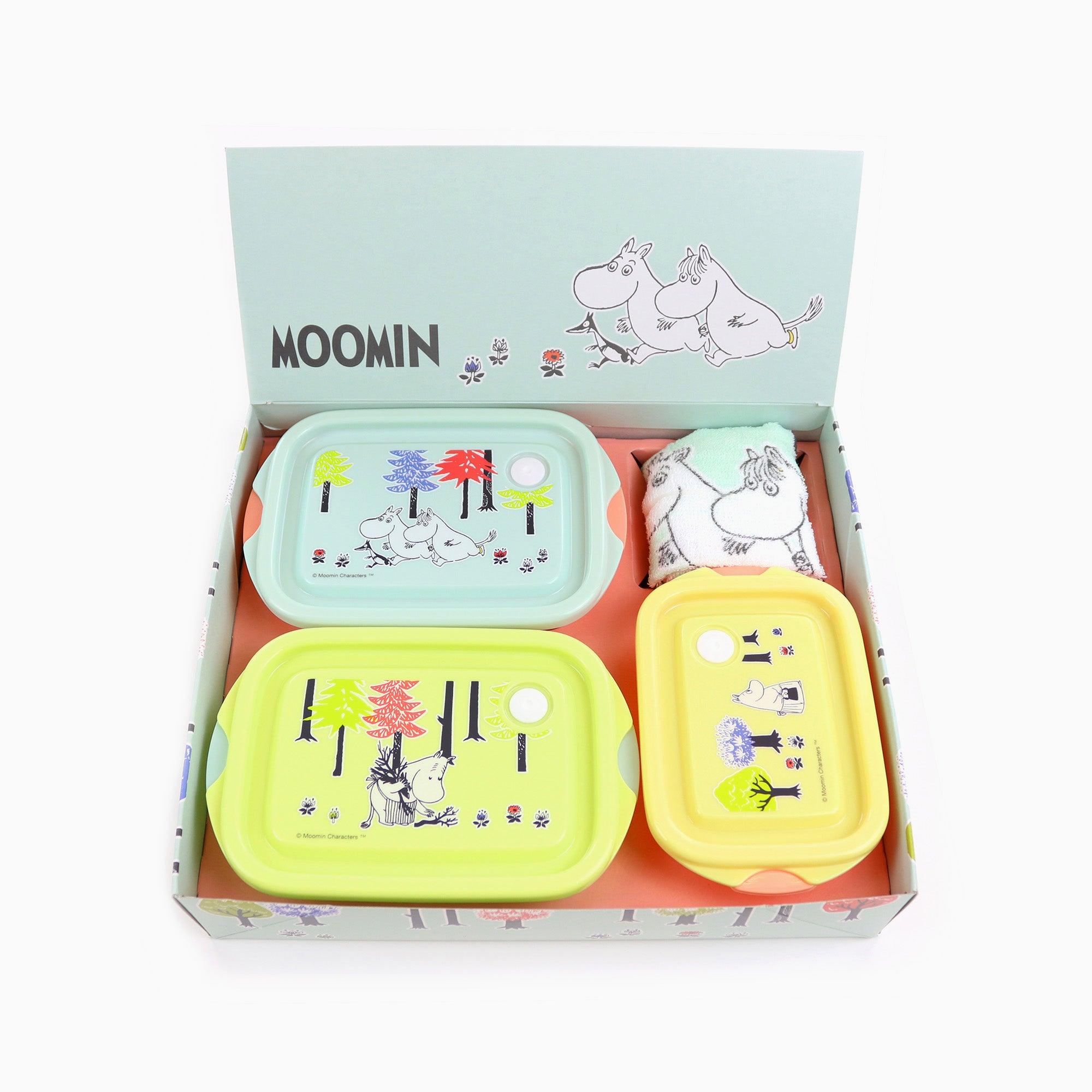 Moomin Food Containers + Towel