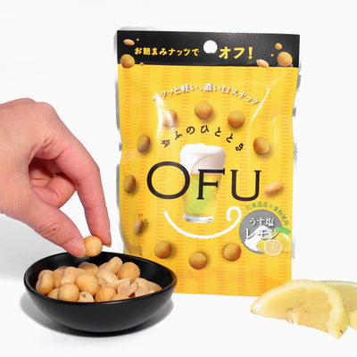OFU Smoked Crackers and Peanuts: Salt + Lemon