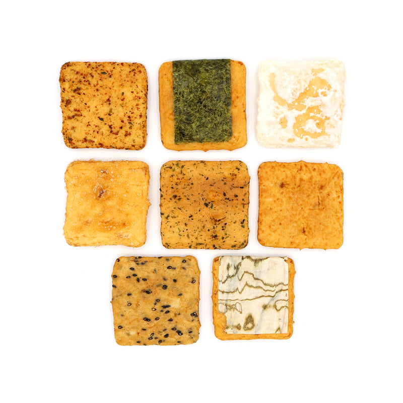 Senbei Lab Gift Box: Deluxe Rice Crackers (8 Flavors, 20 Pieces)