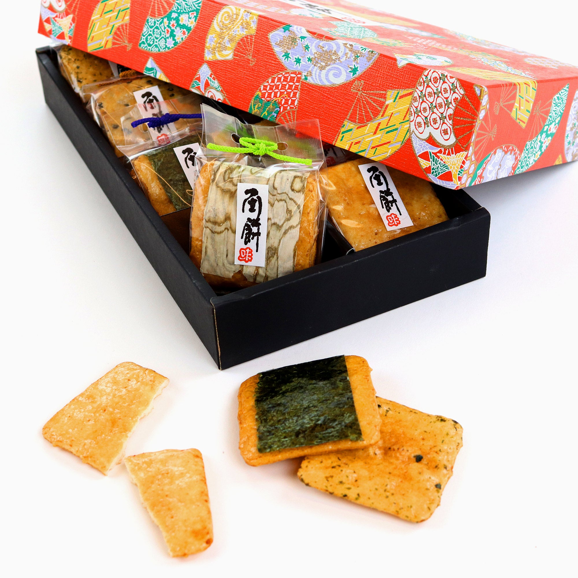 Senbei Lab Gift Box: Deluxe Rice Crackers (20 Pieces, 8 Flavors)
