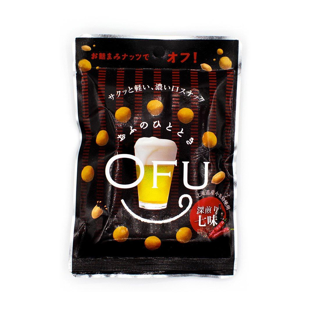 OFU Smoked Crackers and Peanuts: Fukairi Shichimi Seven-Flavor (1 Bag)