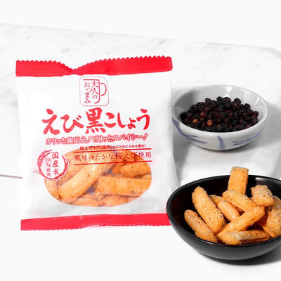 Market - Otona No Otsumami Crunch: Ebi + Black Pepper (4 Packs)
